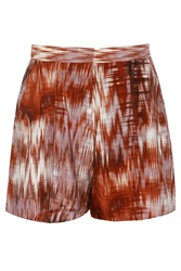Elizabeth And James Kayla Printed Silk Shorts