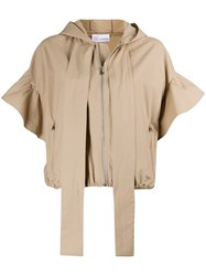 Red Valentino Redvalentino Hooded Poplin Jacket 60