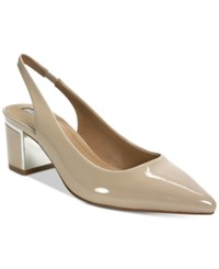 Tahari Roseanne Pointed Toe Slingback Pumps Women's Shoes Nude