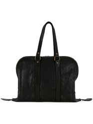 Guidi Boston Tote Black