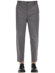 Thom Browne Straight Leg Cotton Twill Chino Pants Med Grey