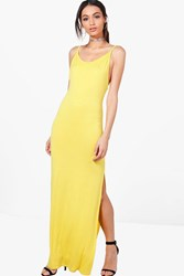Boohoo Low Scoop Back Strappy Maxi Dress Freesia