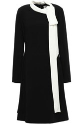 Mikael Aghal Woman Pussy Bow Crepe Dress Black