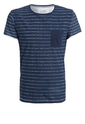 Tom Tailor Denim Print Tshirt Night Sky Blue Dark Blue