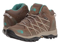 The North Face Storm Iii Mid Wp Cub Brown Crockery Beige Women's Hiking Boots