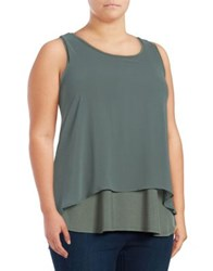 B Collection By Bobeau Double Layer Tank Navy