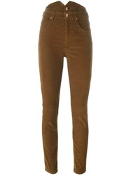 Etoile Isabel Marant 'Farley' Corduroy Trousers Brown