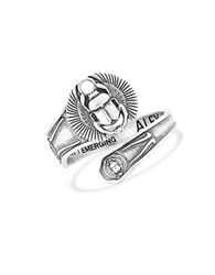 Alex And Ani Scarab Spoon Ring Silver