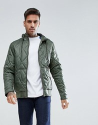 Ringspun Quilted Hooded Jacket Grey