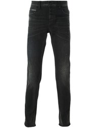 Emporio Armani Skinny Denim Trousers Black