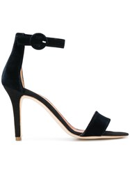 Via Roma 15 Open Toe Sandals Black
