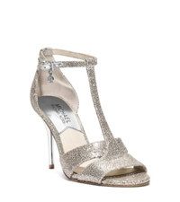 Michael Kors Diana Open Toe Leather Sandal Silver