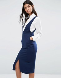 Y.A.S Fear Pinafore Dress Navy