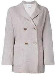 Agnona Double Breasted Jacket Nude Neutrals