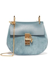 Chloe Drew Small Leather And Suede Shoulder Bag Teal