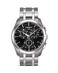 Tissot Couturier Men's Black Chronograph Stainless Steel Watch 41Mm No Color