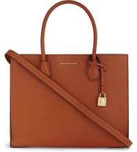 Michael Michael Kors Mercer Large Leather Tote Orange