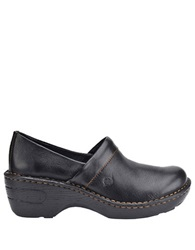Born Toby Wedge Clogs Black