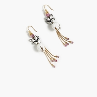 J.Crew Garden Party Dangle Earrings White