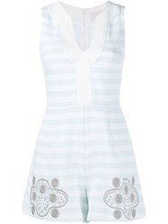 Peter Pilotto Striped Tahlia Playsuit Blue