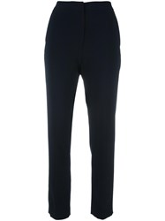 Msgm High Waist Trousers Black