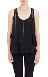 Thakoon Addition Washed Silk Layered Tank Colorless Size 6 Us