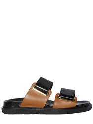 Marni 30Mm Double Velcro Strap Leather Sandals