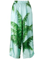 F.R.S For Restless Sleepers Palm Leaf Print Pyjama Trousers Blue