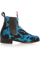 Penelope Chilvers Printed Calf Hair Chelsea Boots