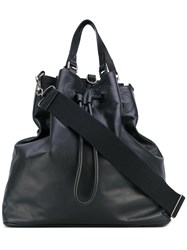 Maison Martin Margiela Triangular Tote Bag Men Leather One Size Black