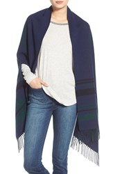 Women's Madewell 'Border' Plaid Cape Scarf