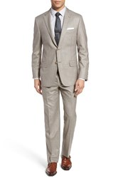 Hickey Freeman Men's Beacon Classic Fit Solid Wool Suit