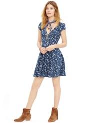 Denim And Supply Ralph Lauren Floral Print Fit And Flare Dress