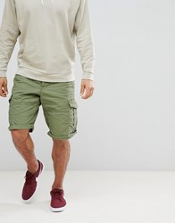 Esprit Relaxed Fit Cargo Shorts In Green