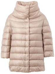 Herno High Collar Padded Jacket Nude And Neutrals