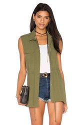 1. State Patch Pocket Vest Green