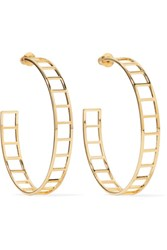 Arme De L'amour Gold Plated Hoop Earrings One Size
