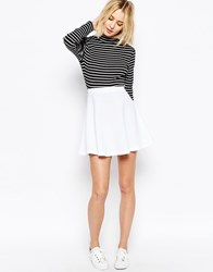 Asos Skater Skirt In Texture White