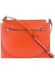 Victoria Beckham Front Zip Crossbody Bag Yellow Orange
