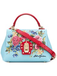 Dolce And Gabbana Lucia Tote Blue