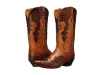 Old West Boots Lf1539 Burnwood Brown Cowboy Boots
