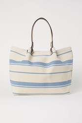 Handm Striped Shopper Blue