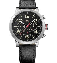 Tommy Hilfiger 1791232 Stainless Steel And Leather Watch Black