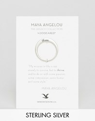 Dogeared Maya Angelou Legacy By Sterling Silver Thrive Engraved Reminder Ring Silver