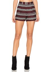 Bcbgeneration Pleat Short Burgundy