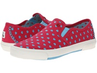I Heart Ugg Slip On Powder Blue Hearts Canvas Women's Slip On Shoes Pink