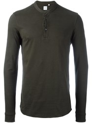 Aspesi Henley Sweater Green