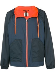 Santoni Two Tone Windbreaker Jacket Blue