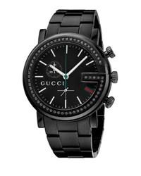 Gucci G Chrono Pvd Watch W Bracelet Strap Black