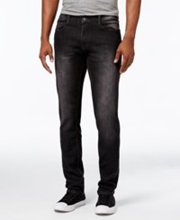 Ring Of Fire Men's Slim Fit Storm Wash Jeans Black Paradise